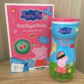 BN Peppa Pig Snack Fruit Gummy Hawthorn Biscuits