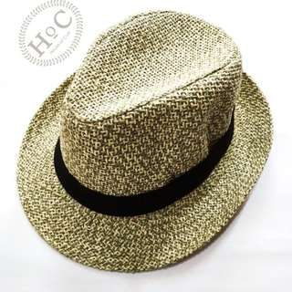 Houseofcuff Topi Fedora Hat  GREEN ABSTRACT FEDORA HAT
