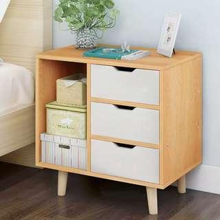 簡約小櫃子儲物經濟型床邊櫃時尚組裝櫃迷你儲物櫃宿舍臥室組裝