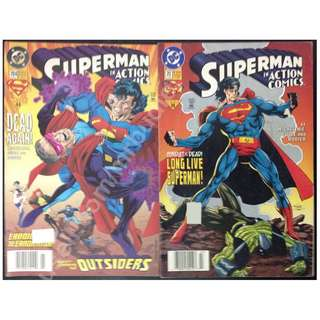 Superman In Action Comics #704 & #711