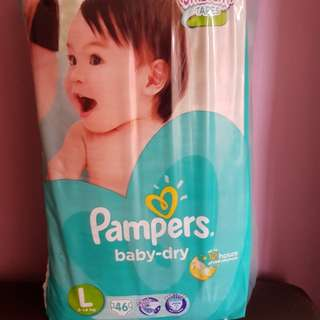 Pampers diaper tape L size