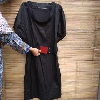 Black Dress ZARA (FREE ONGKIR)