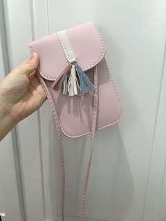 粉紅色斜孭袋 pink crossbody bag