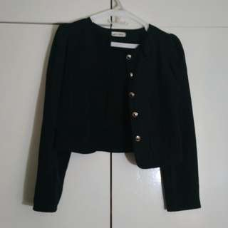 Black Cardigan with gold buttons