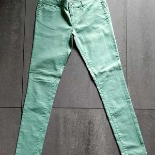 F21 Forever 21 Light Teal Denim Jeans