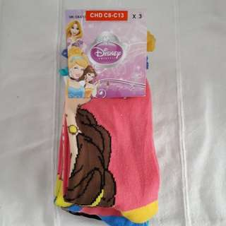 Brand new Disney princess socks (3pcs)