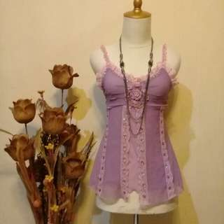 Tanktop violet soft cute