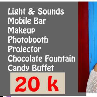 Makeup Sound system Photobooth