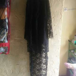 Dress hitam brukat