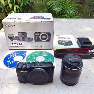 Canon EOS M1 with 18-55mm kitlens