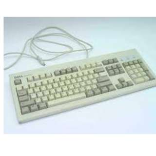 Dell QuietKey wired keyboard PS/2 有線鍵盤