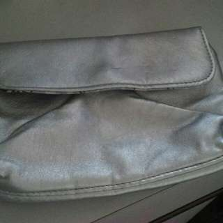 Spotsgirl Silver Wallet Clutch Bag