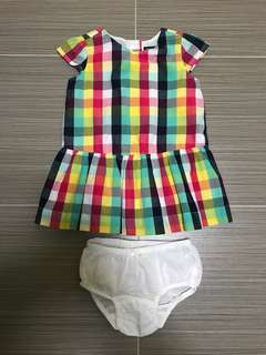Authentic Gap Baby Girls Colourful Checkers Dress
