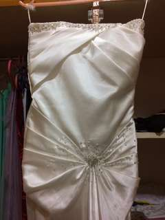 White Silk Mermaid Gown