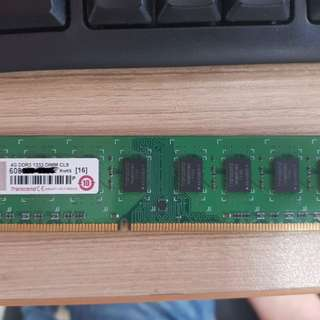 Transcend 創見 記憶體 4G DDR3 1333