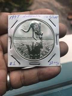 1997 Australia $1 proof coin