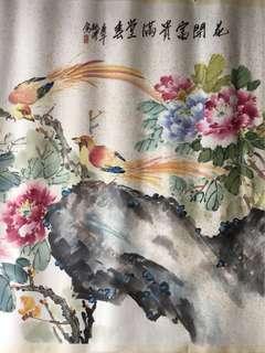 福建画家許毓清82x148cm Chinese painting