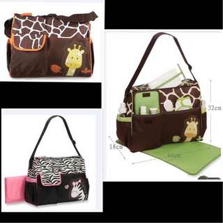 Animal print mommy bag