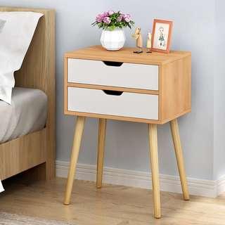 床頭櫃簡約現代床櫃收納小櫃子簡易組裝儲物櫃宿舍臥室組裝床邊櫃