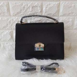 P C&K embellished buckle bag