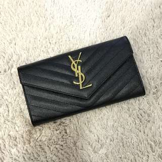 🌟In Stock🌟BN Saint Laurent Large Monogram Flap Wallet Black