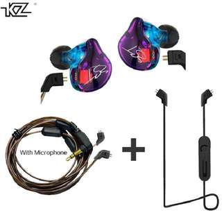 KZ ZST Earphones with Bluetooth Cable