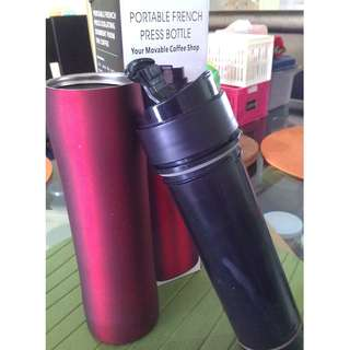 Portable French Press Coffee Maker Bottle