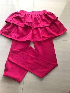 pink skirt leggings/tights