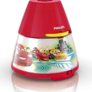 Philips Disney 2 in 1 Projector and Night Light Cars Red