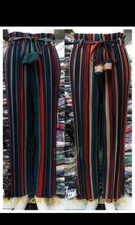 Long stripe cullote