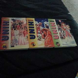Love hina- 3 books