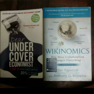 Wikinomics and Undercover Economist 2 for RM10