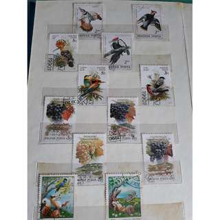 Birds, Dinosaur, Winery Assorted Stamps