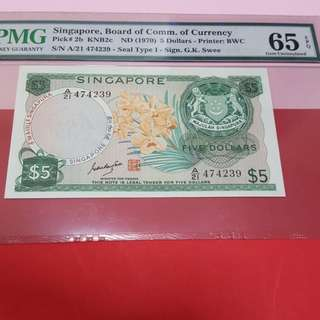 $5-orchid GKS SIGN RARE PMG65EPQ.