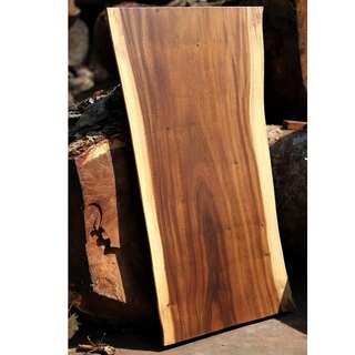 Solid wood table top slab
