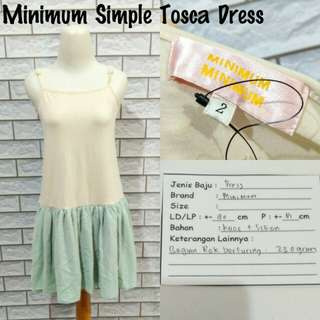 Minimum Simple Tosca Dress | Pakaian Wanita | Terusan Import