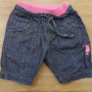 Girl's short jeans pant