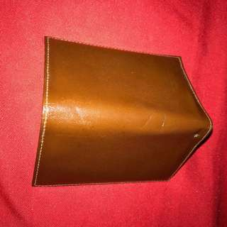 Brown leather credit card /atm card/ calling cards holder
