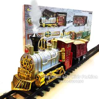 Classical Simulated European Train Set with smoke,Light and Sound