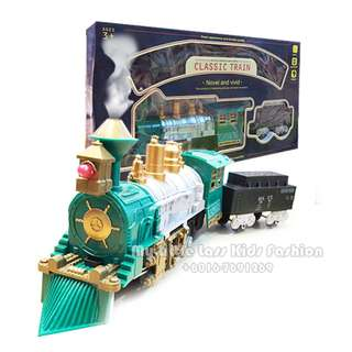 Classic Train Battery Operated Train with Smoke and Light Novel and Vivid Series