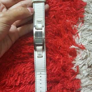 Authentic dkny white strap leather