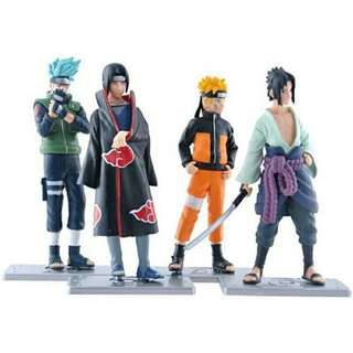 Anime Naruto Set 4 pcs Figures Collection Kakashi Uzumaki Naruto Itachi