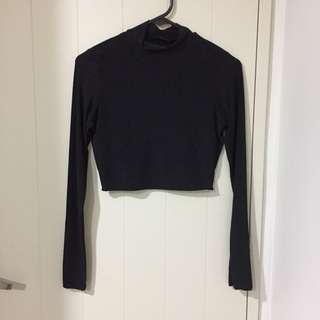 Brand new PLT slinky long sleeve crop