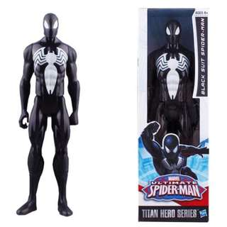 30cm Classic Black Spiderman Figure Collection