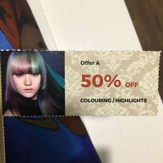 Colouring or highlights voucher