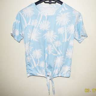 Palm tree summer top