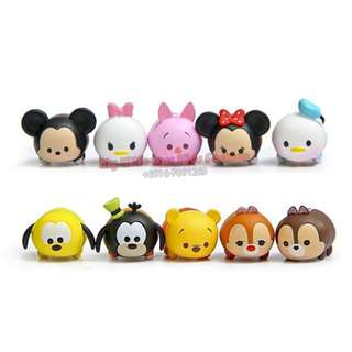 10Pcs CutieTsum Tsum PVC Figure Cake Topper collection