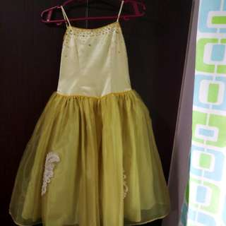 Pre-Loved Kid's Gown - Yellow Beaded Gown