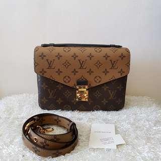 Authentic Pre Owned Louis Vuitton Pouchette Metis Reverse Crossbody Bag