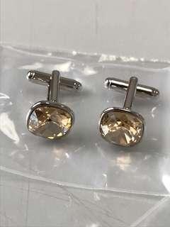 100%new 水晶石 袖口鈕